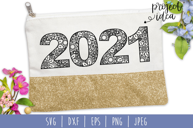2021 Mandala Zentangle SVG, DXF, EPS, PNG JPEG example image 1