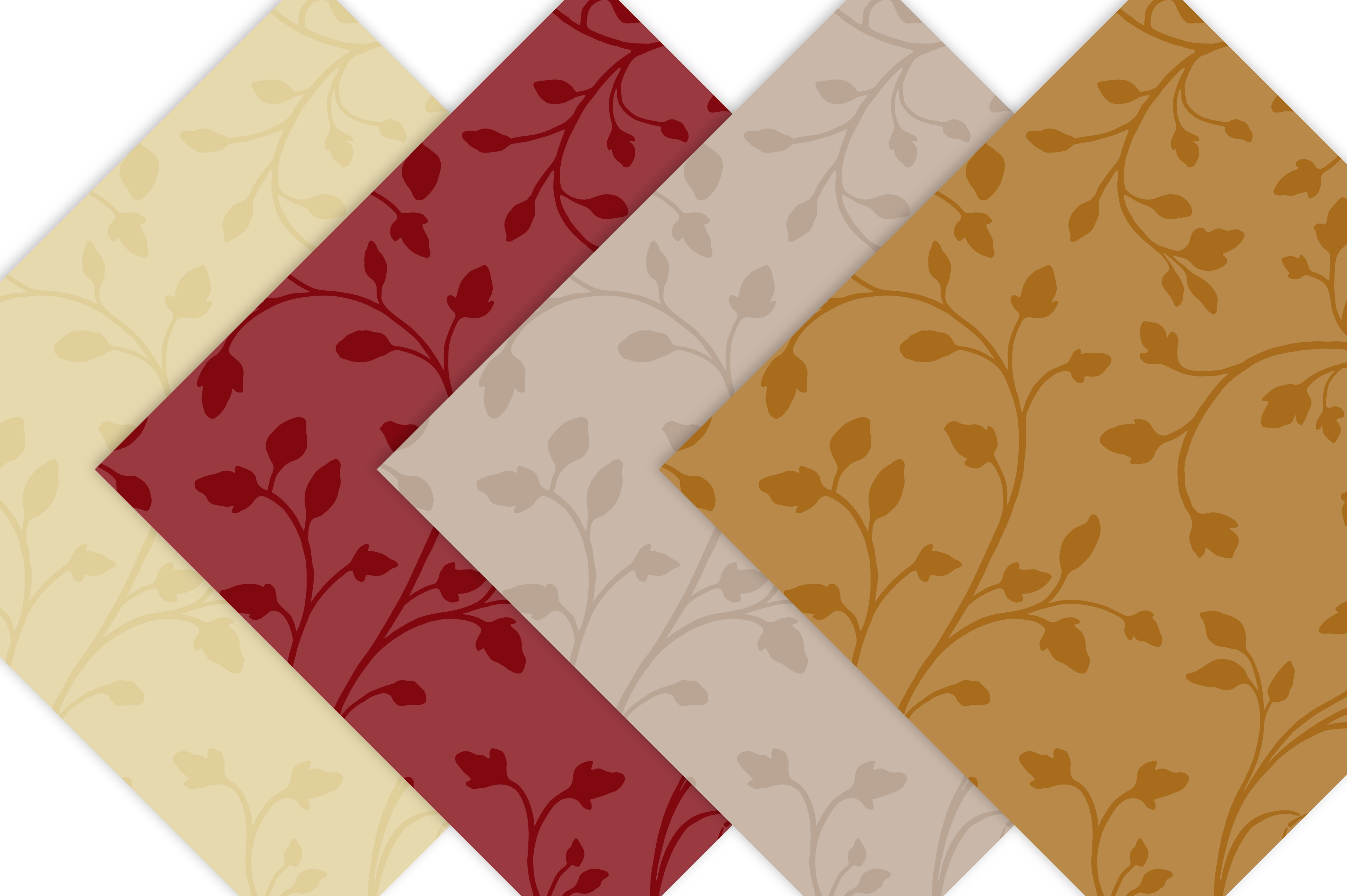 Seamless Patterns - Fall Colors example image 3