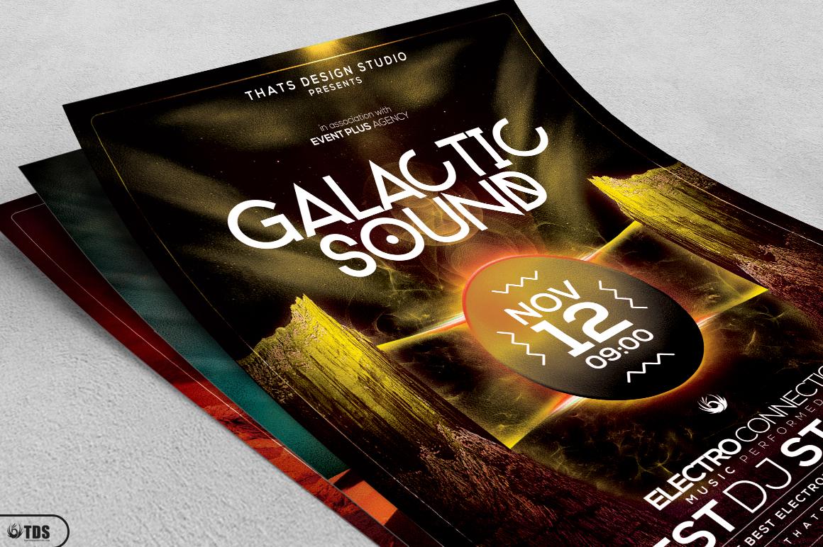 Galactic Sound Flyer Bundle example image 4