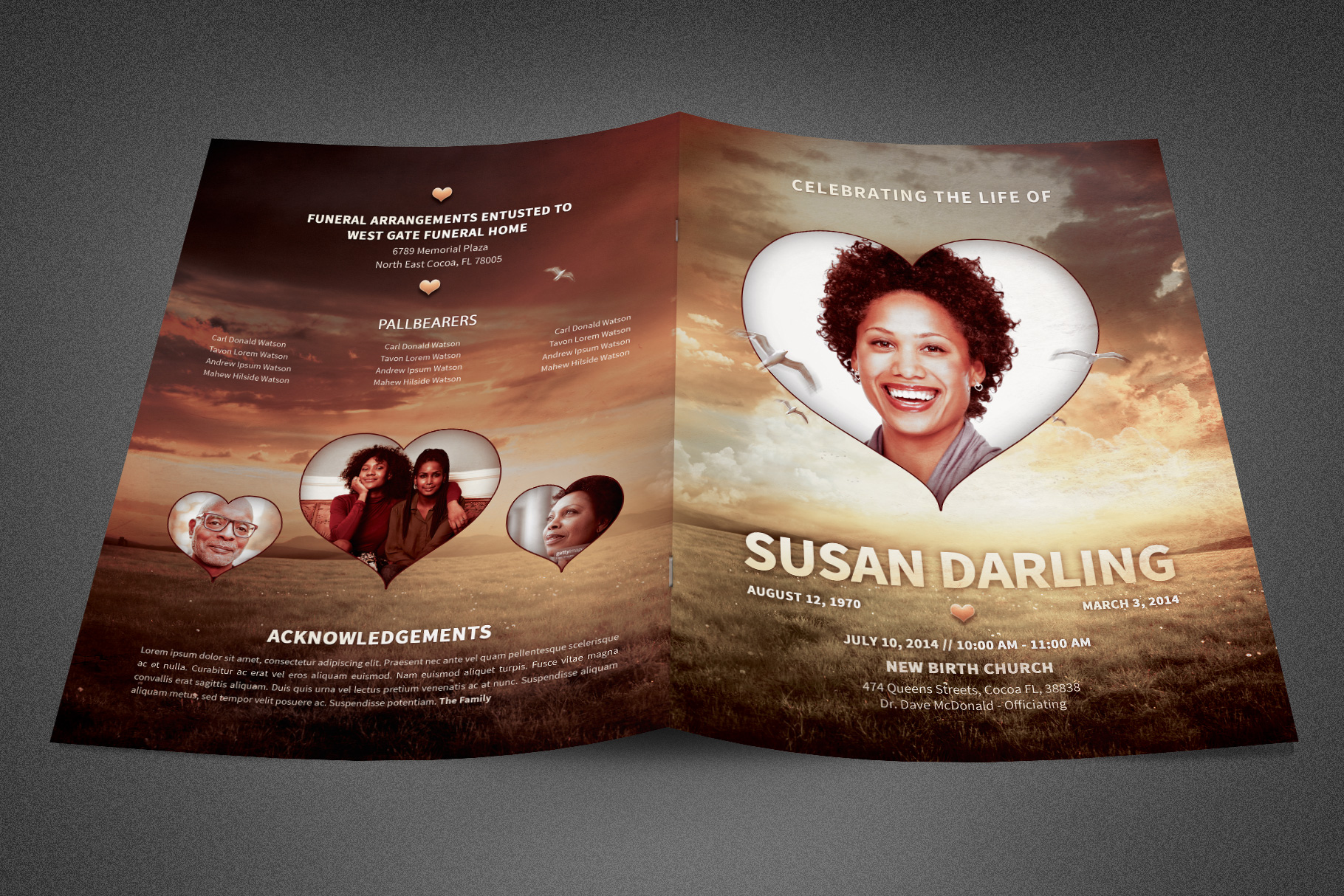 Life of Love Funeral Program example image 2