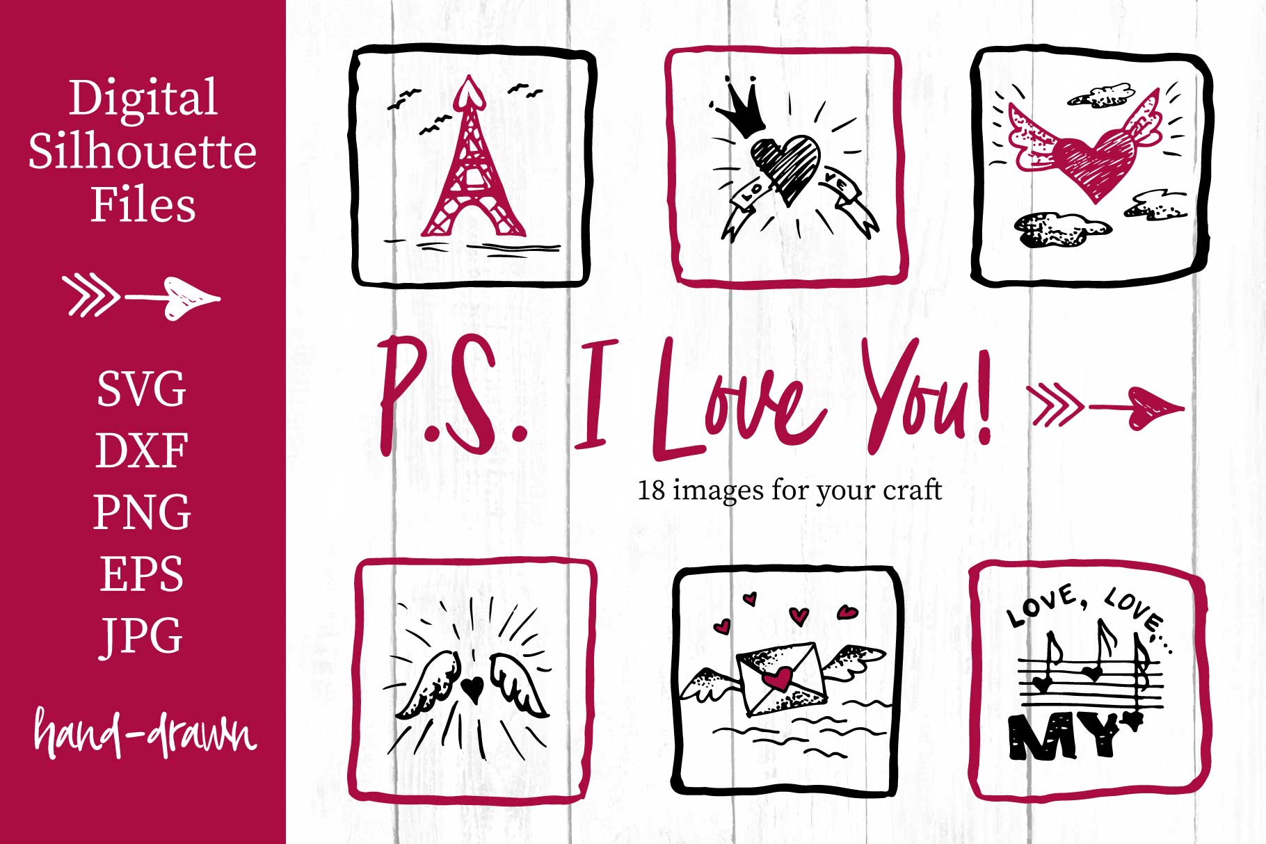 Lovely valentines day set - #5 SVG collection example image 1