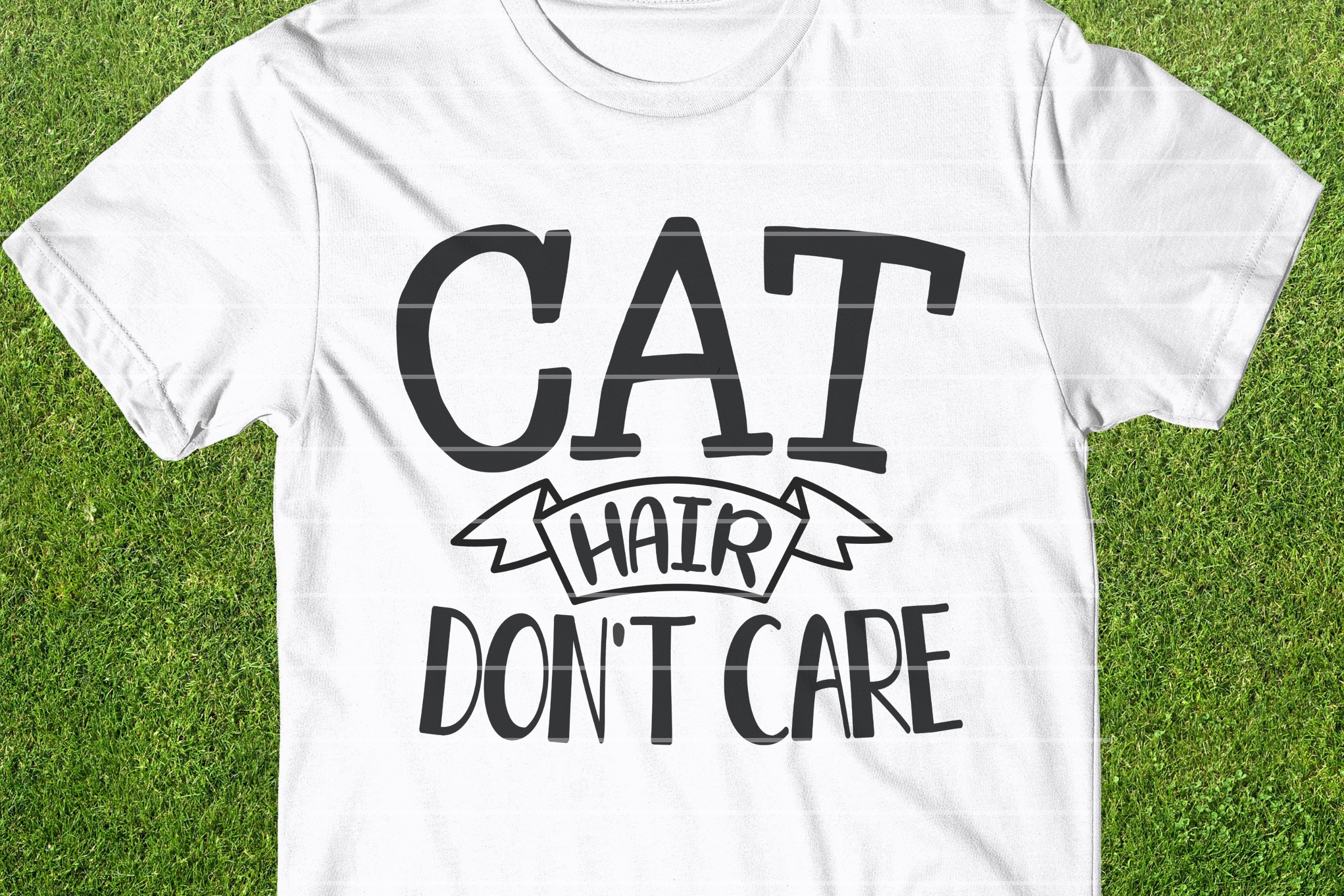 Cat Hair Don't Care SVG, Cat Lovers Cut File example image 1