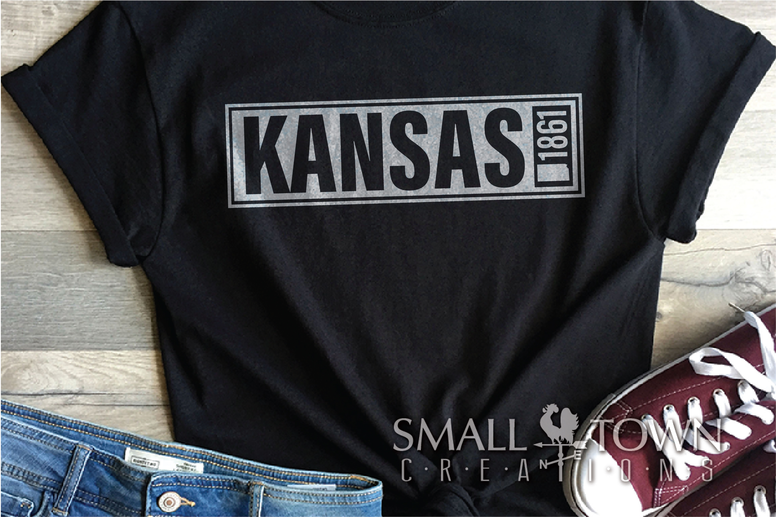 Kansas, The Wheat State - slogan, Logo, PRINT, CUT & DESIGN example image 4