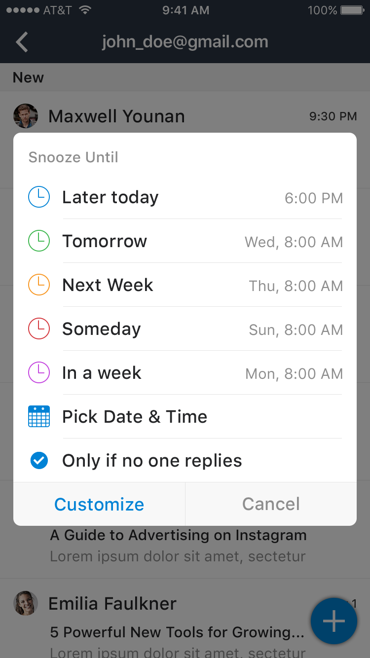 Snooze Mail UI Graphic example image 8