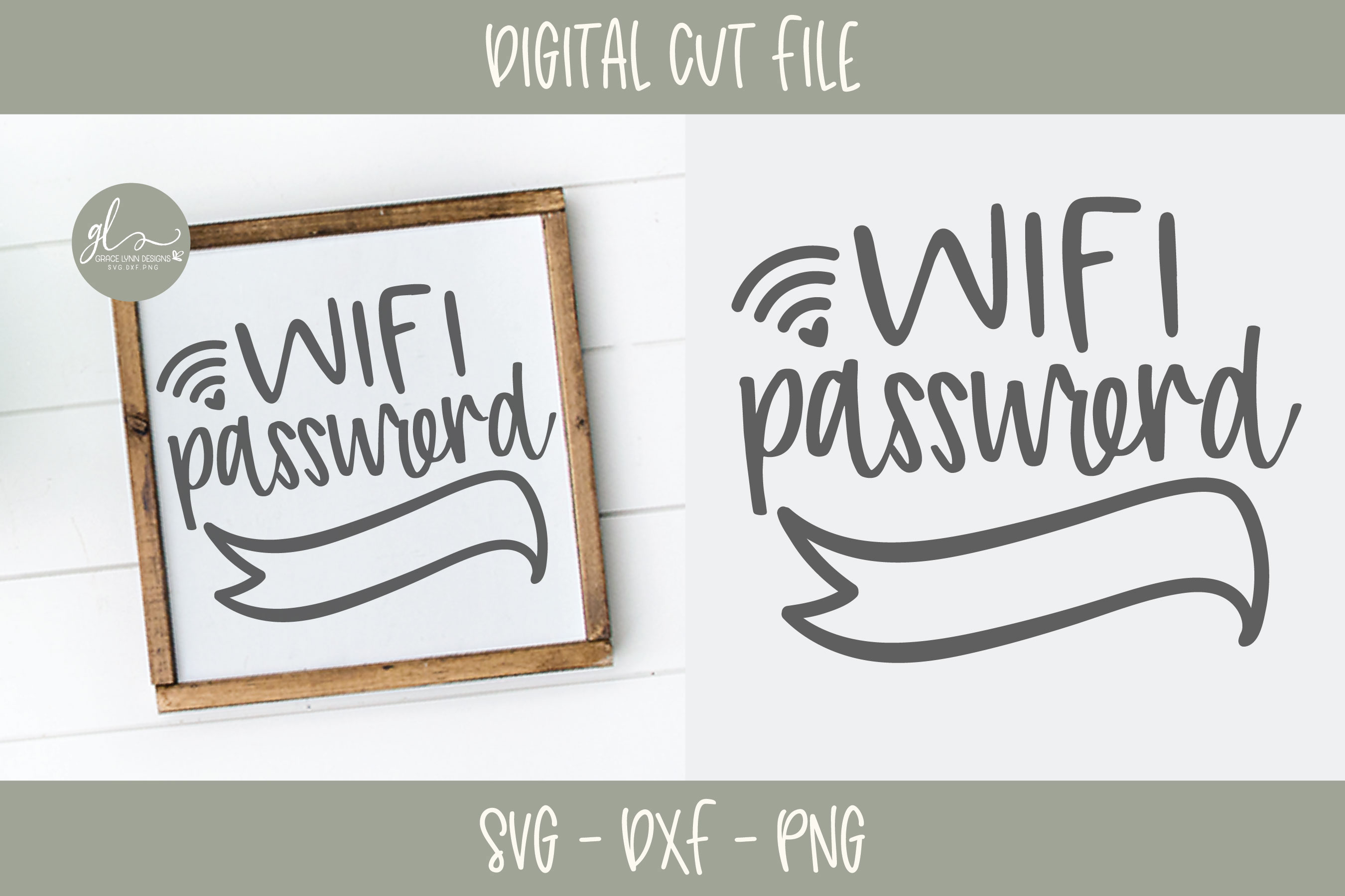 Wifi Password - SVG Cut File example image 1
