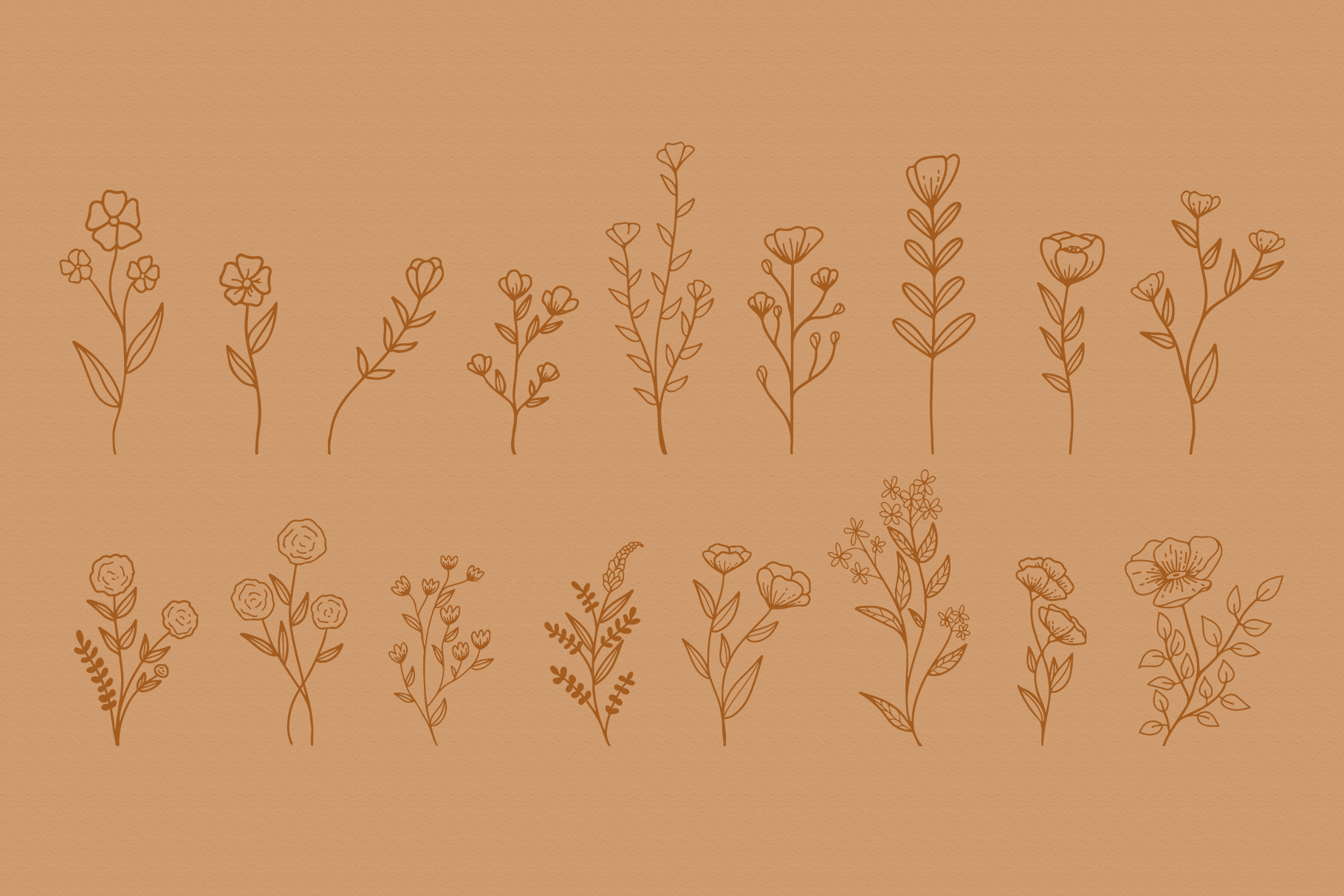 Floral Vector Elements Volume 002 example image 10