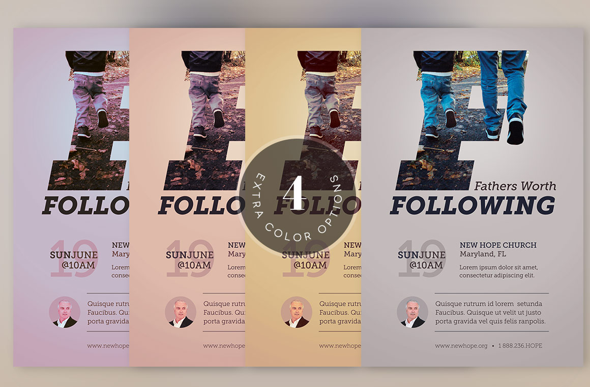 Fathers Worth Following Flyer Template example image 2