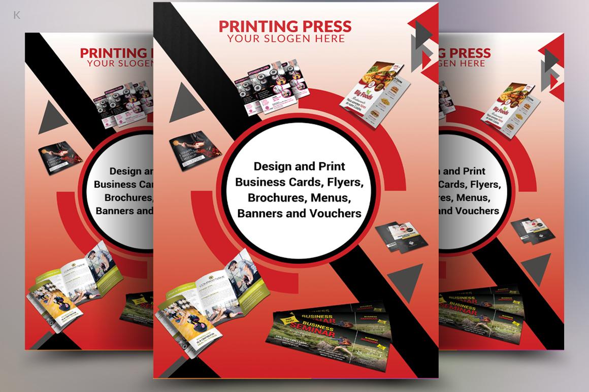 Printing Press Flyer Example Image 2