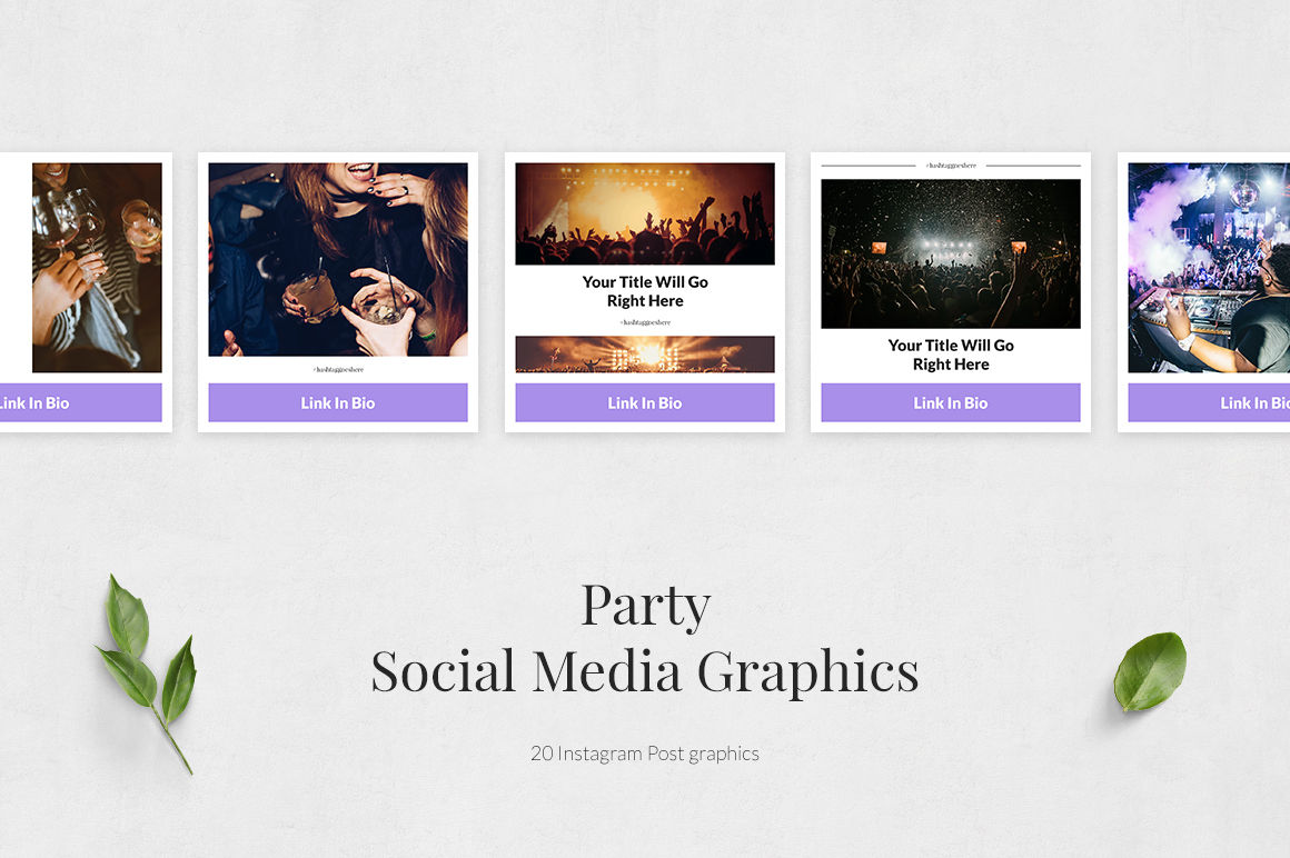 Party Instagram Posts example image 2