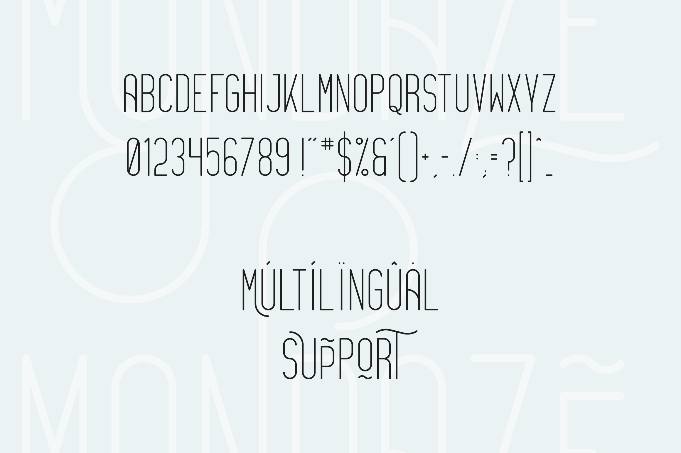 Mondaze Typeface - 4 Weights example image 9