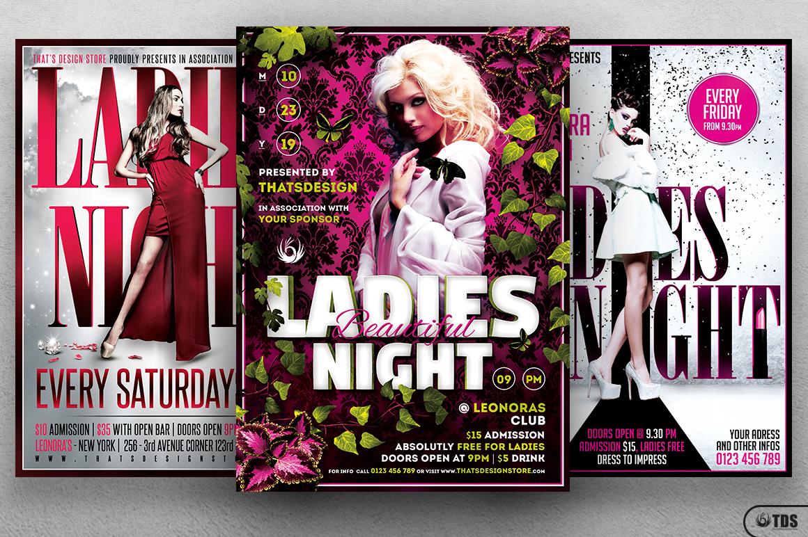 Ladies Night Flyer Bundle V3 example image 3
