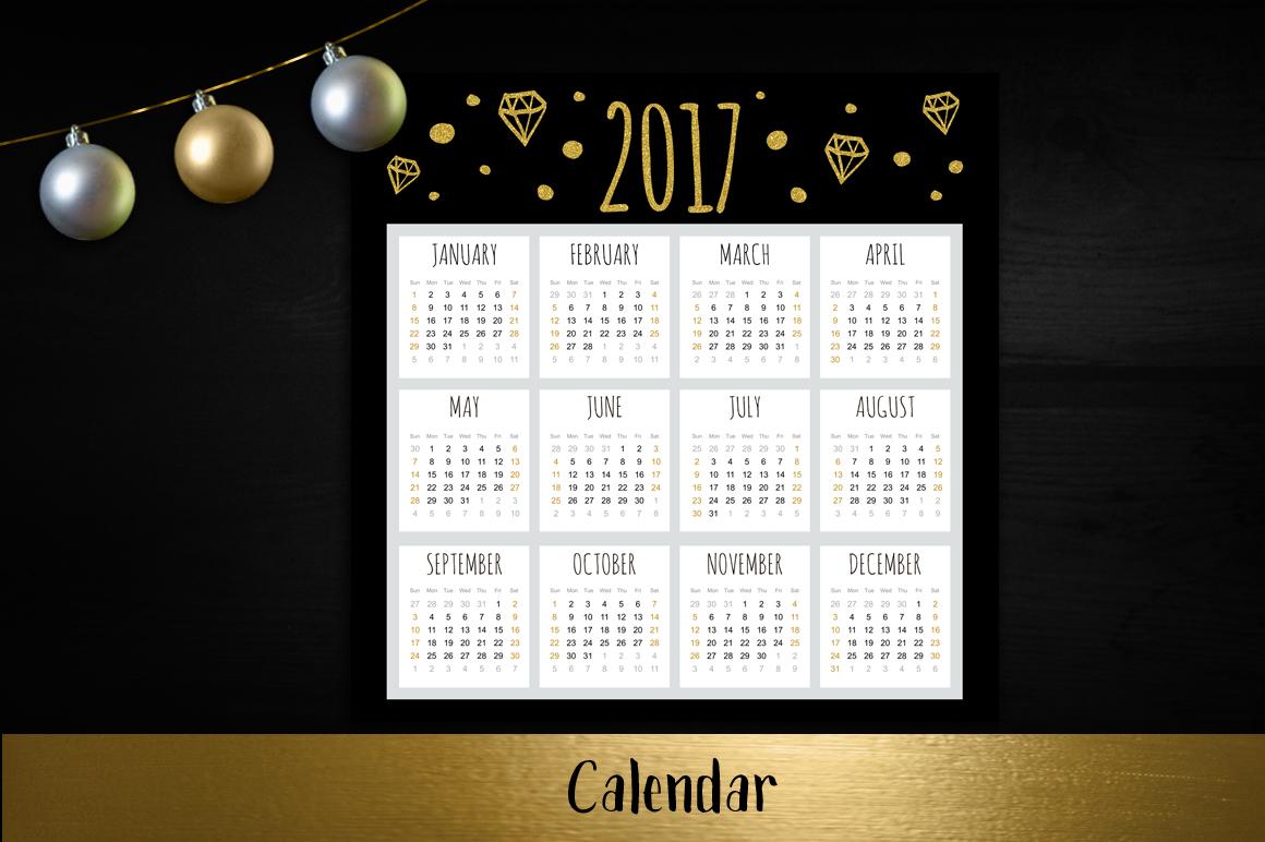 Golden Happy New Year set example image 2