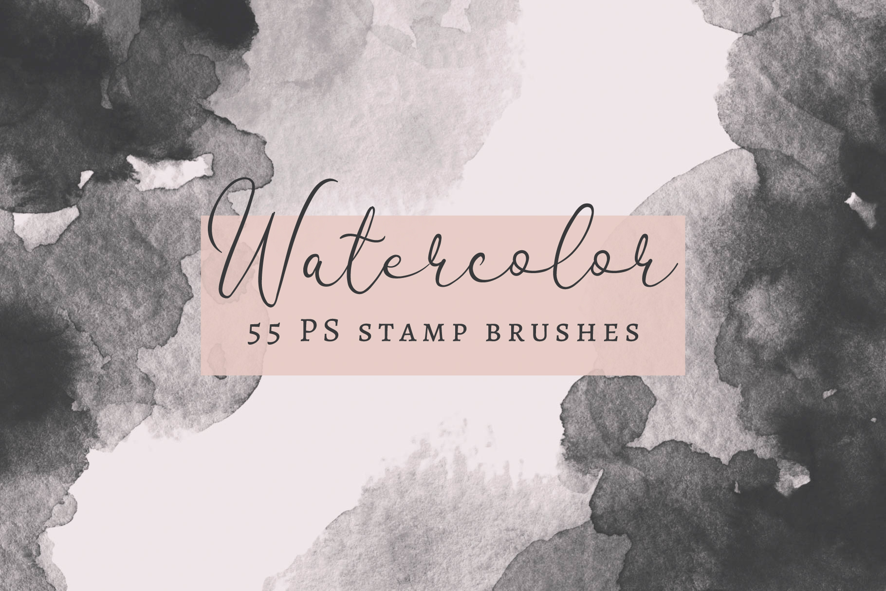 55 PS Watercolor Stamp Brushes example image 1