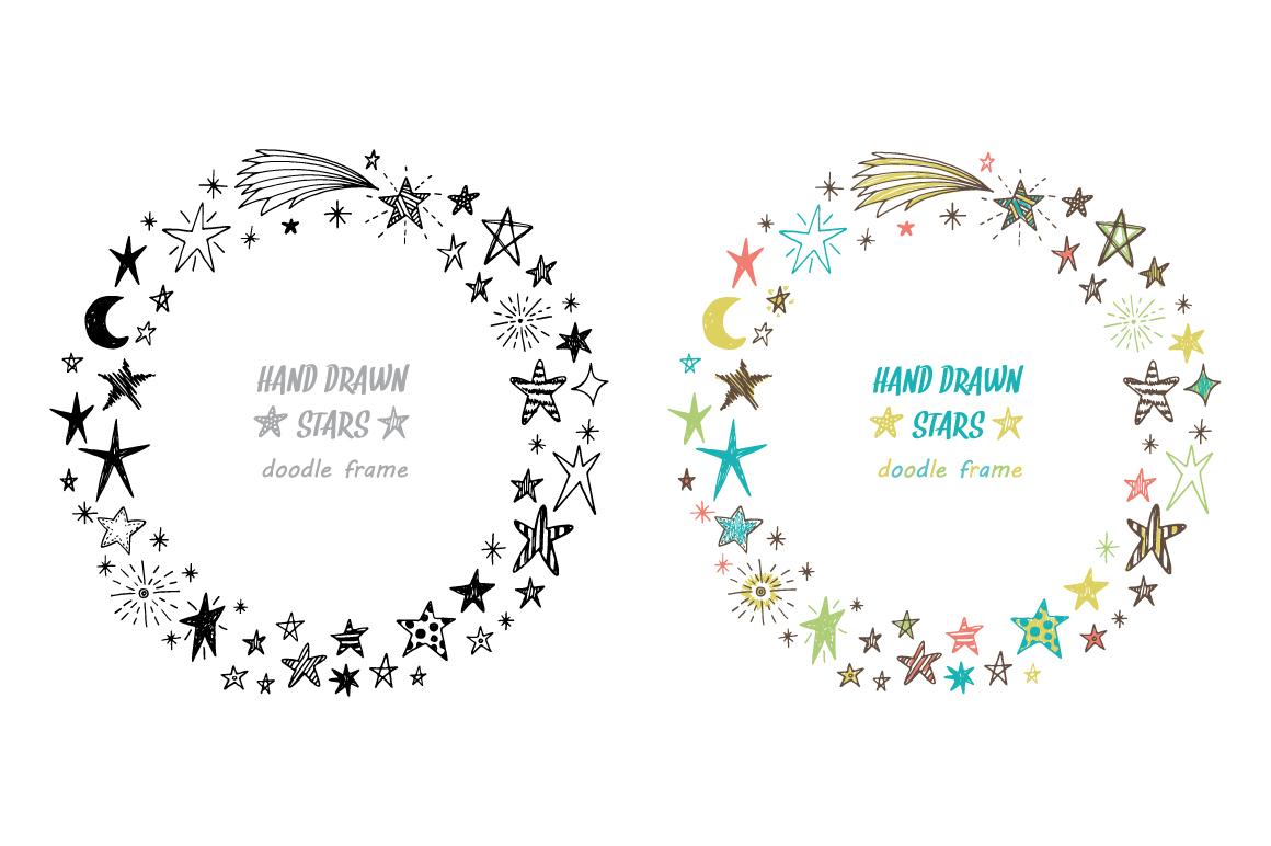 Hand drawn stars + frames example image 3