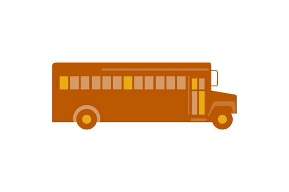 Vintage School Bus Side Retro example image 1