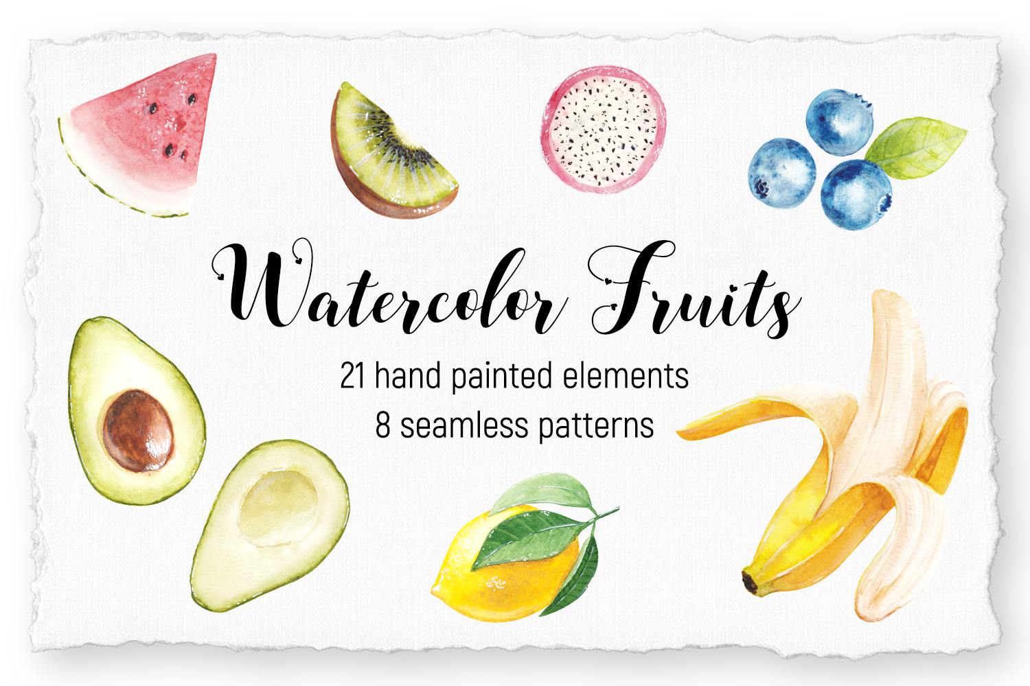 Watercolor handpainted watercolor Collection by shoko design example image 1