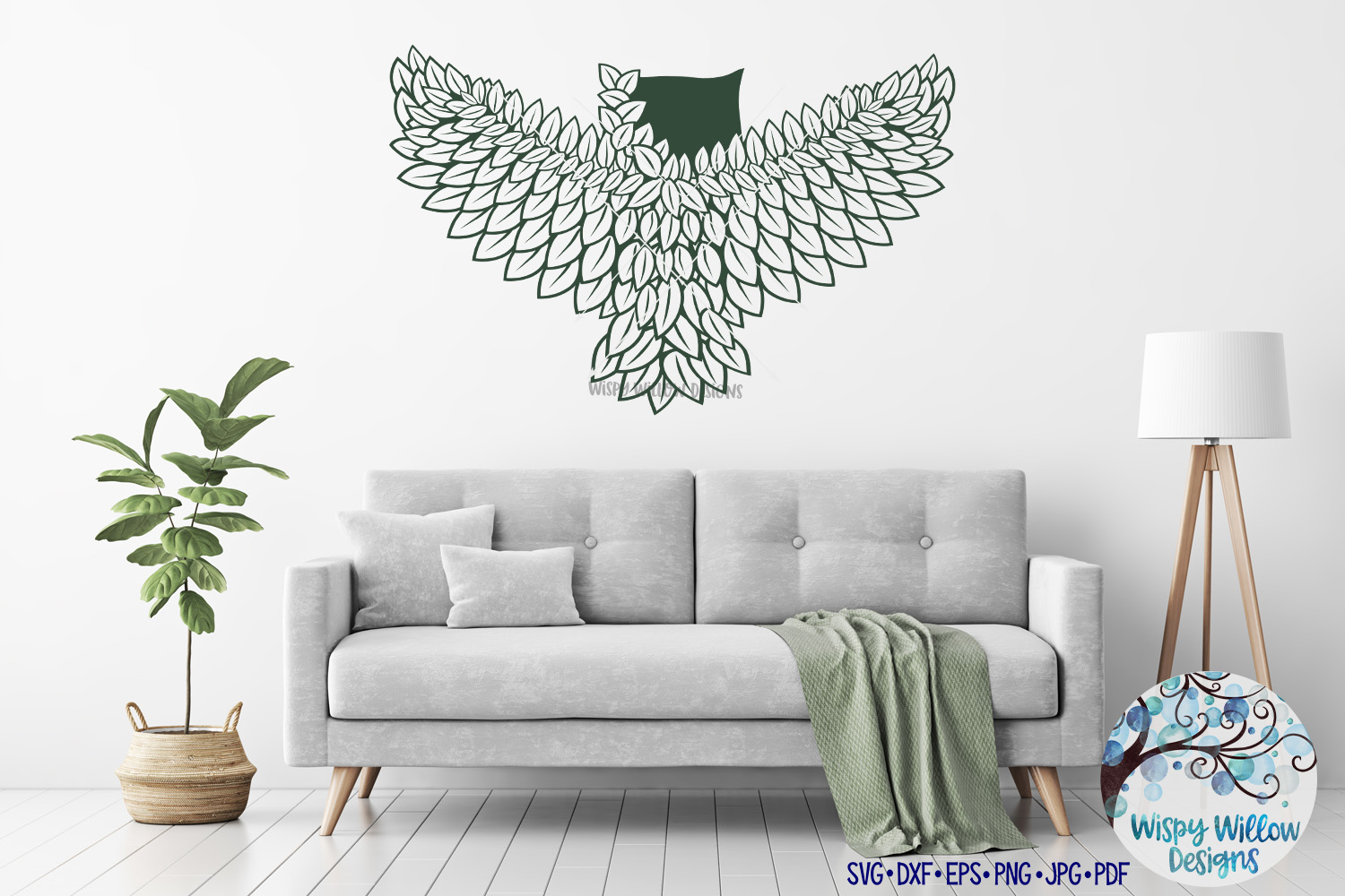 Intricate Owl SVG Cut File example image 3