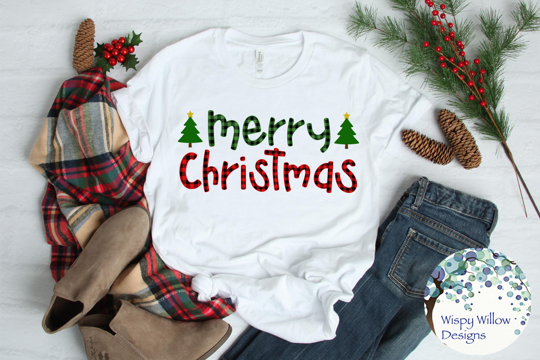 Buffalo Plaid Christmas Bundle SVG Cut Files example image 7
