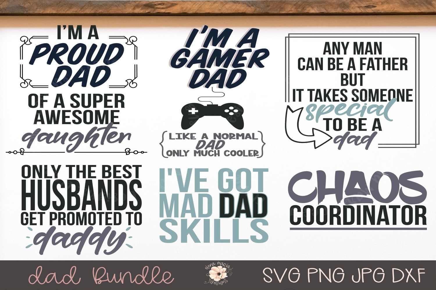 Dad Svg Bundle | Fathers Day Svg And Cut Files For Crafting example image 1