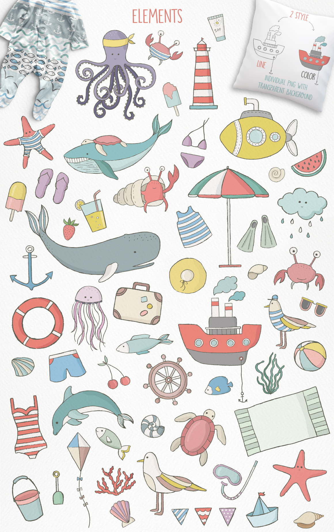 Cute Sea Collection example image 3