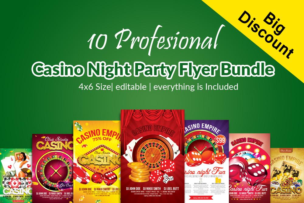 10 Casino Flyers Bundle example image 1