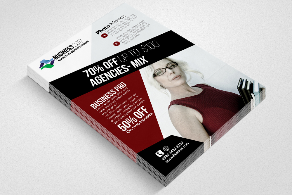 Insurance Consulting Flyer Templates example image 3