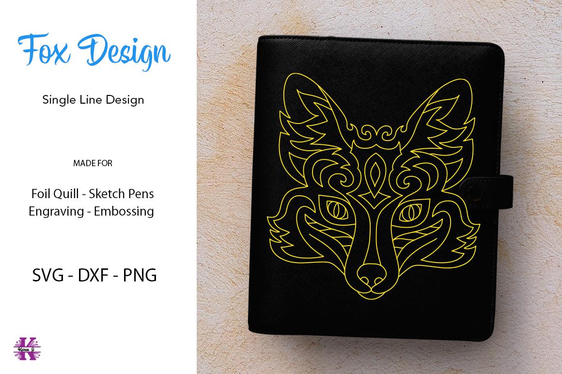 Fox Design for Foil quill Single Line Design example image 1
