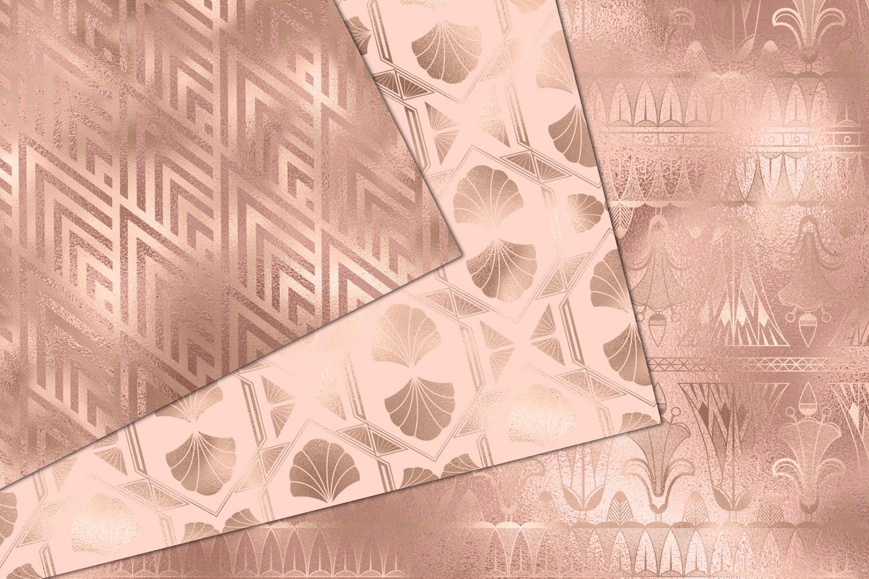 Rose Gold Art Deco Digital Paper example image 4