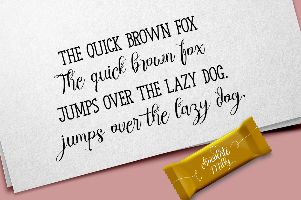Chocolate Milky - Font Duo example image 6