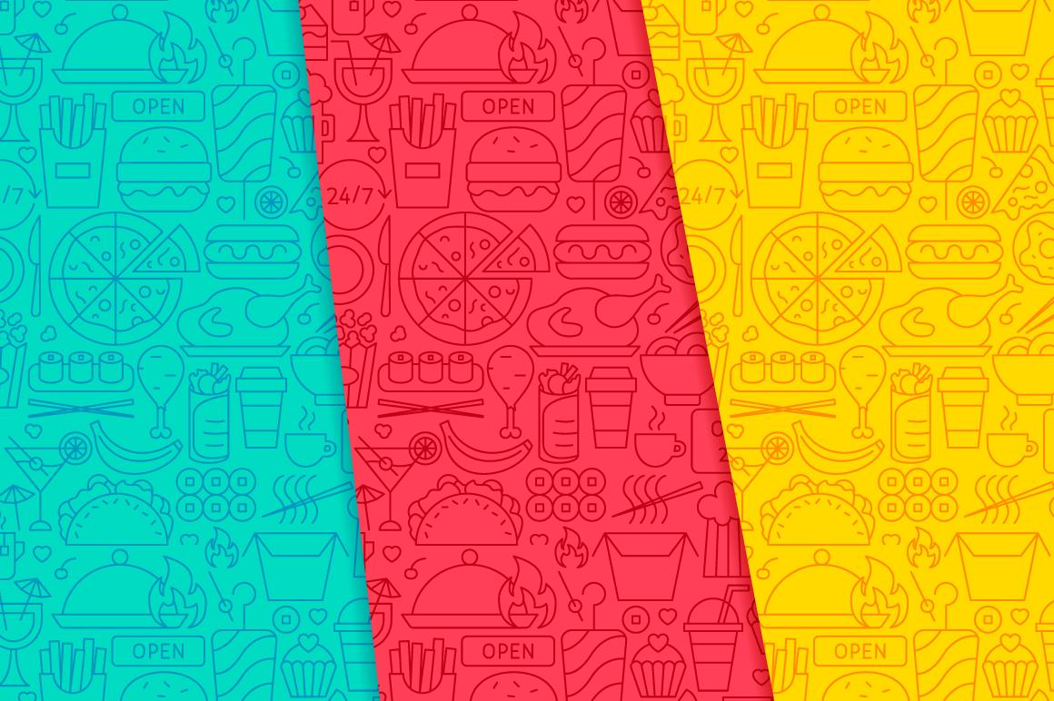Fast Food Line Tile Patterns example image 3