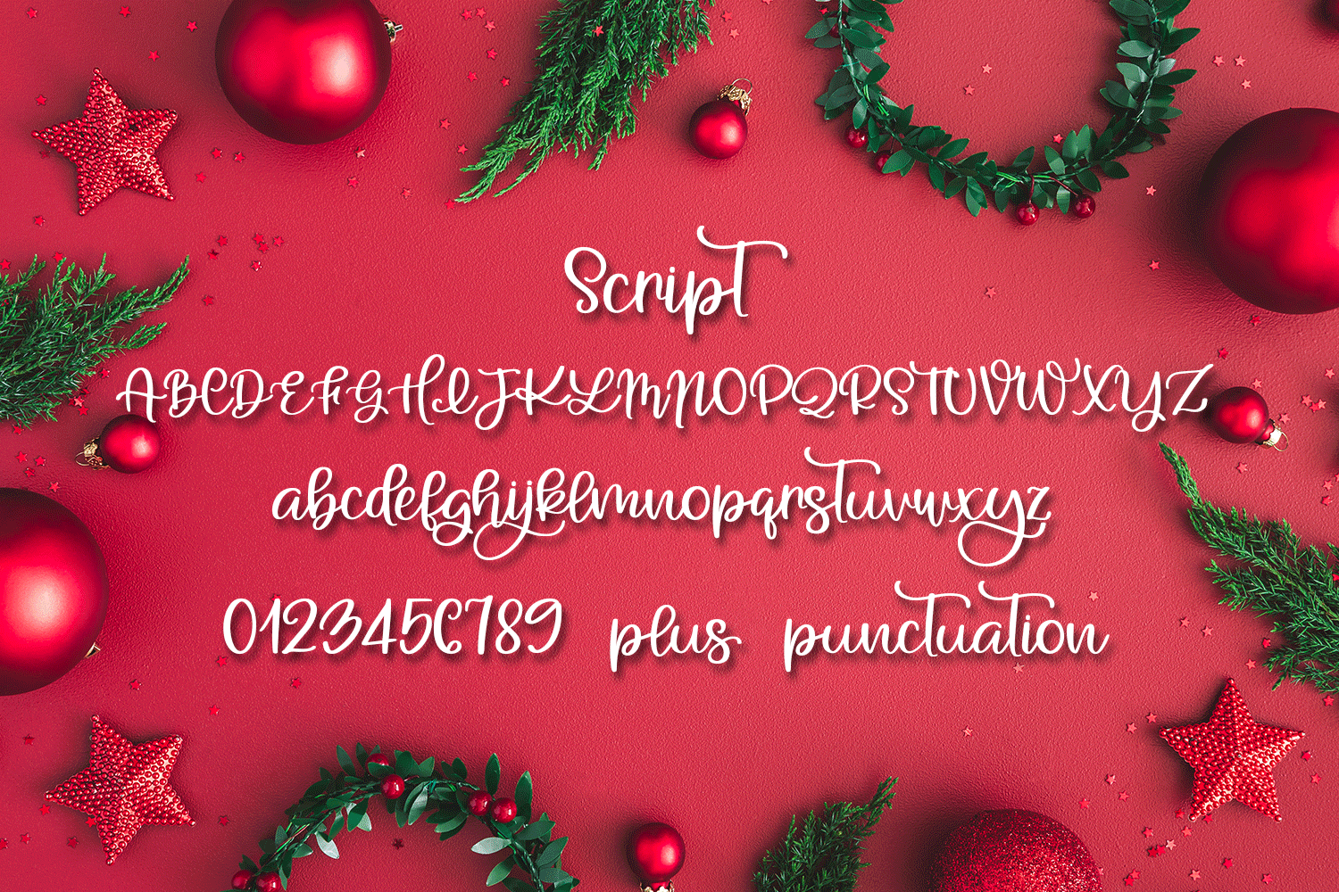 A Holiday Story - A Christmas Hand-Written Font Trio example image 8