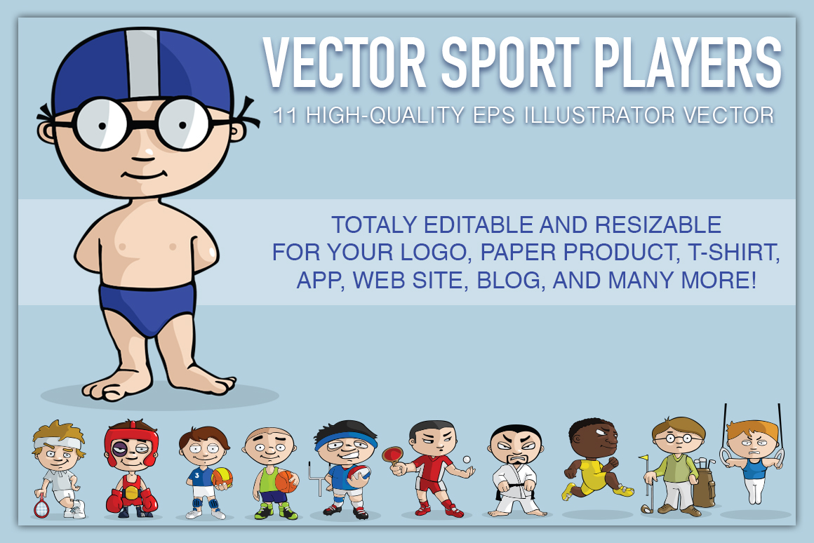 VECTOR sport players example image 1