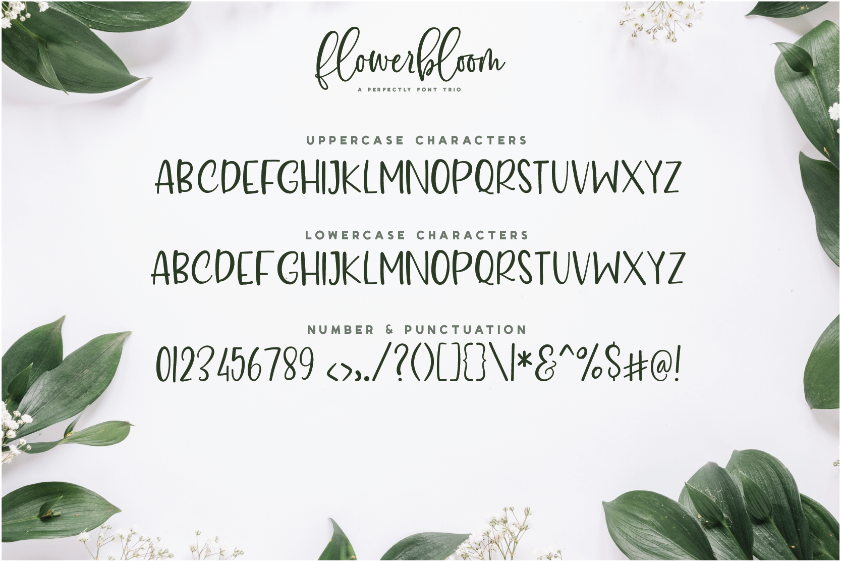 Flowerbloom Font Trio example image 14
