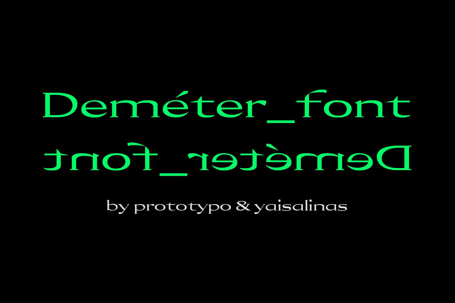 Demeter Font example image 2