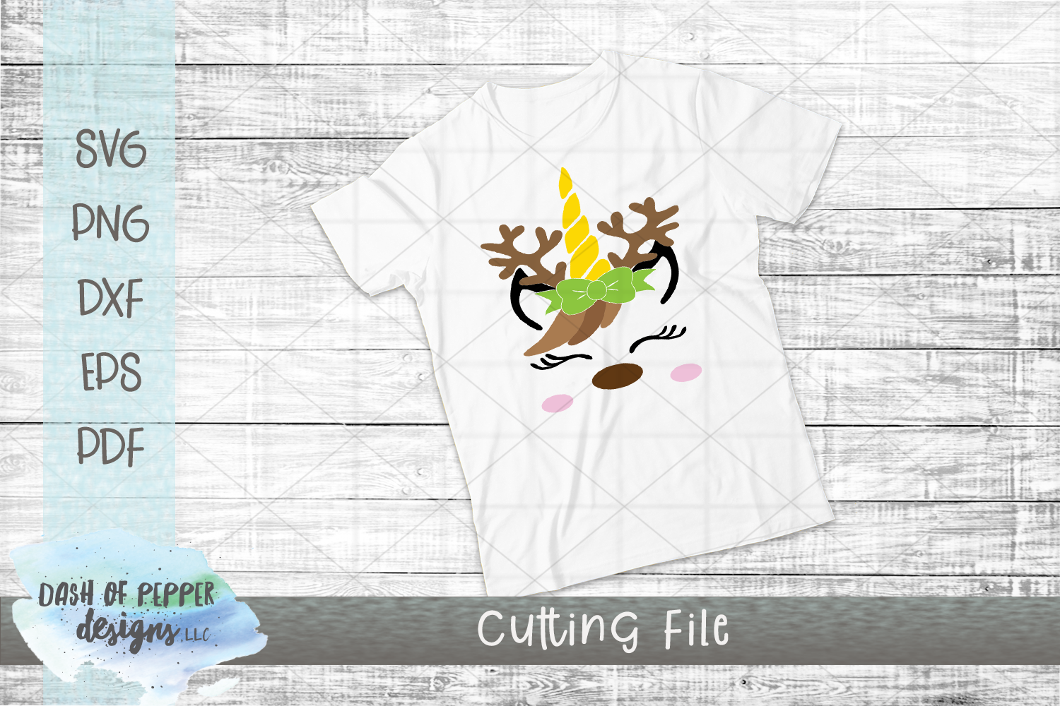 Reindeer Unicorn SVG - A Christmas SVG example image 2
