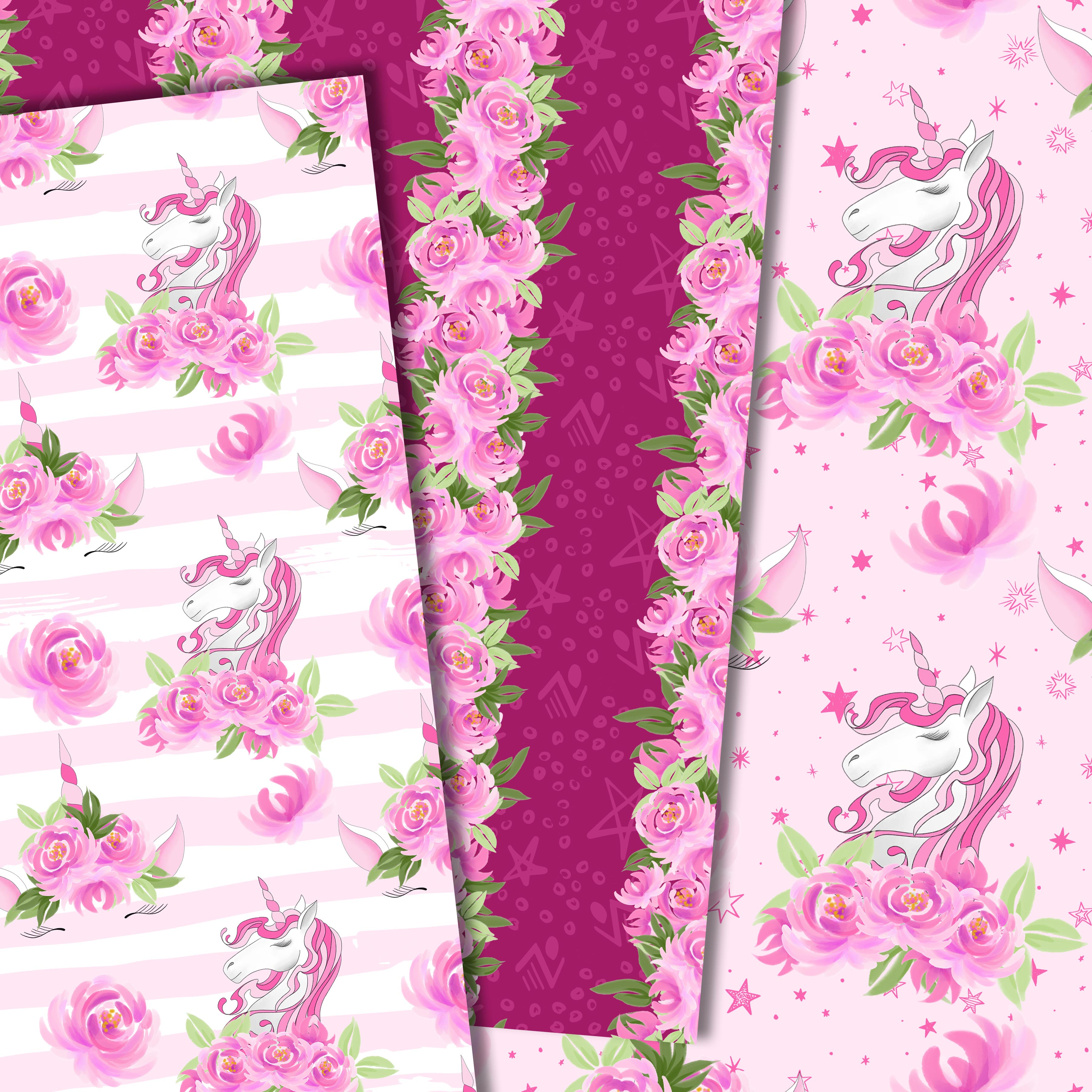 Unicorns and flowers in pink example image 6