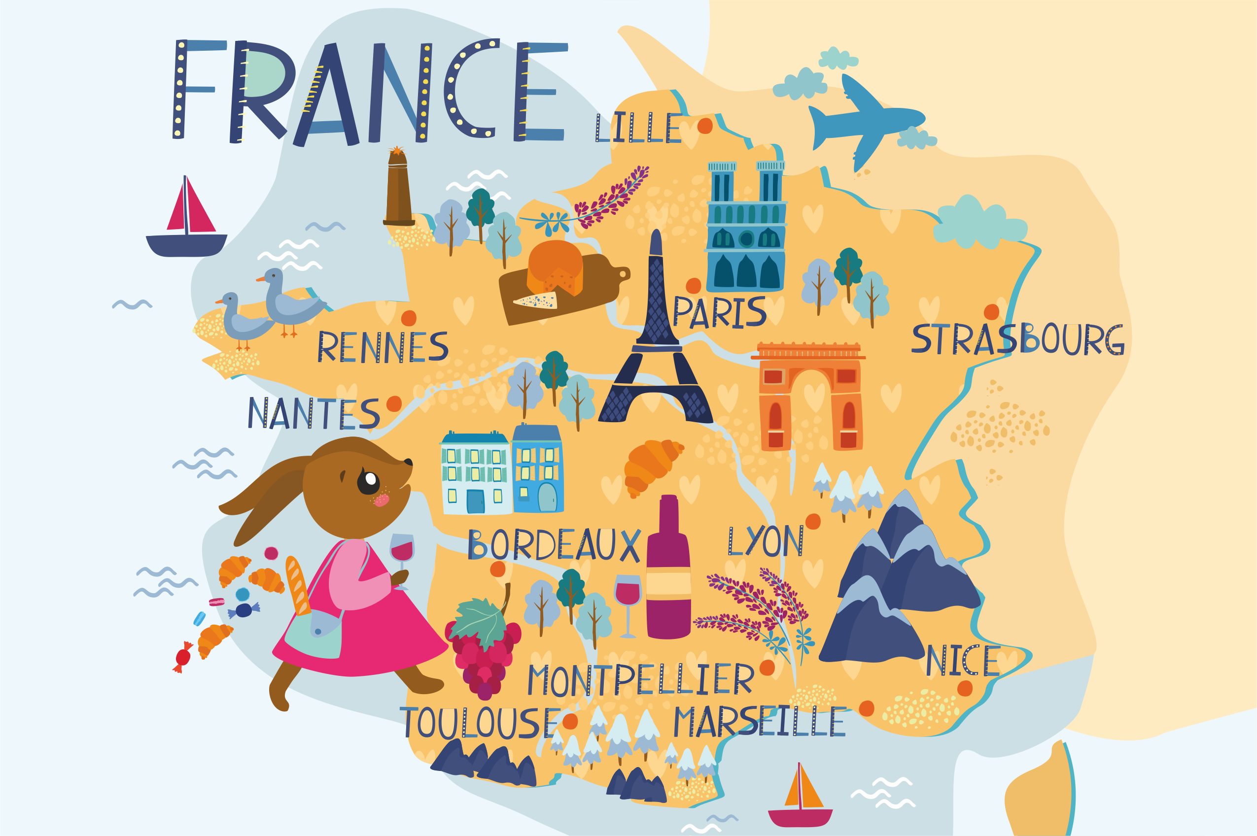 Map of France example image 1