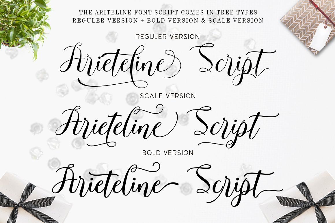 Arieteline Script example image 3