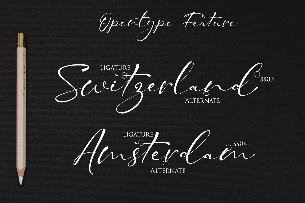 Taman Signature   Stylish Modern Script example image 2