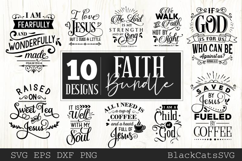 Faith SVG bundle 10 designs Christian SVG bundle example image 1