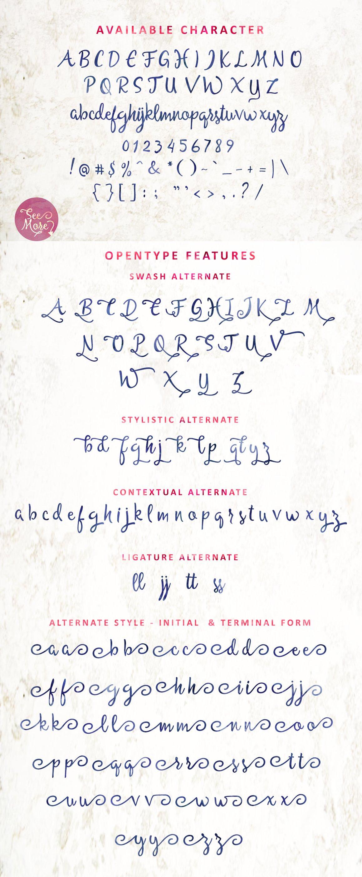 Allessa Script example image 4