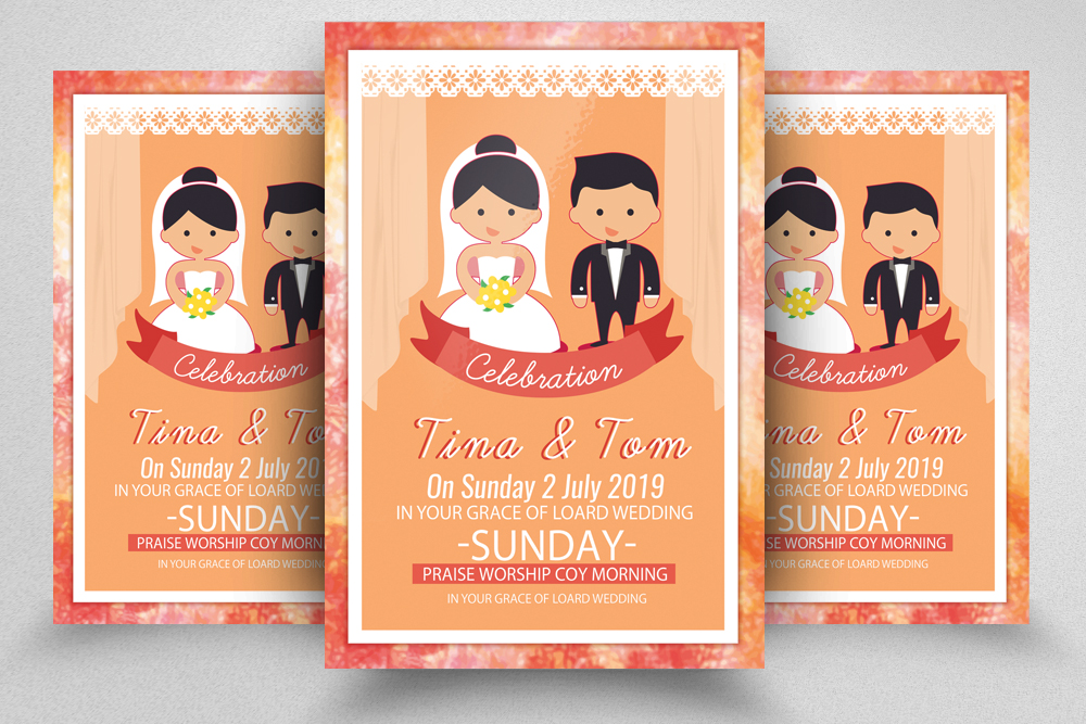 The Wedding Invitation Flyer Template example image 1