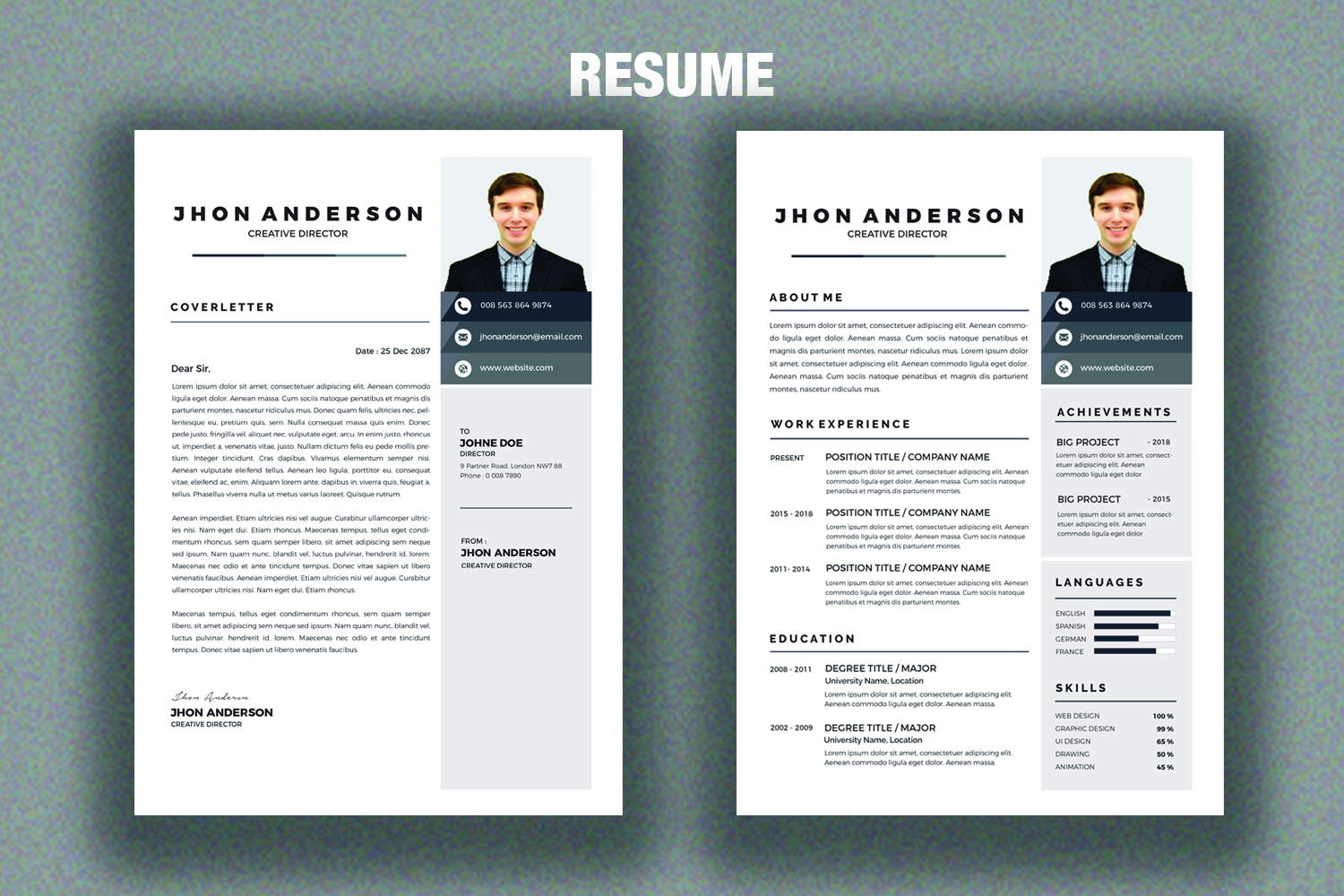 Resume /CV Template  example image 3