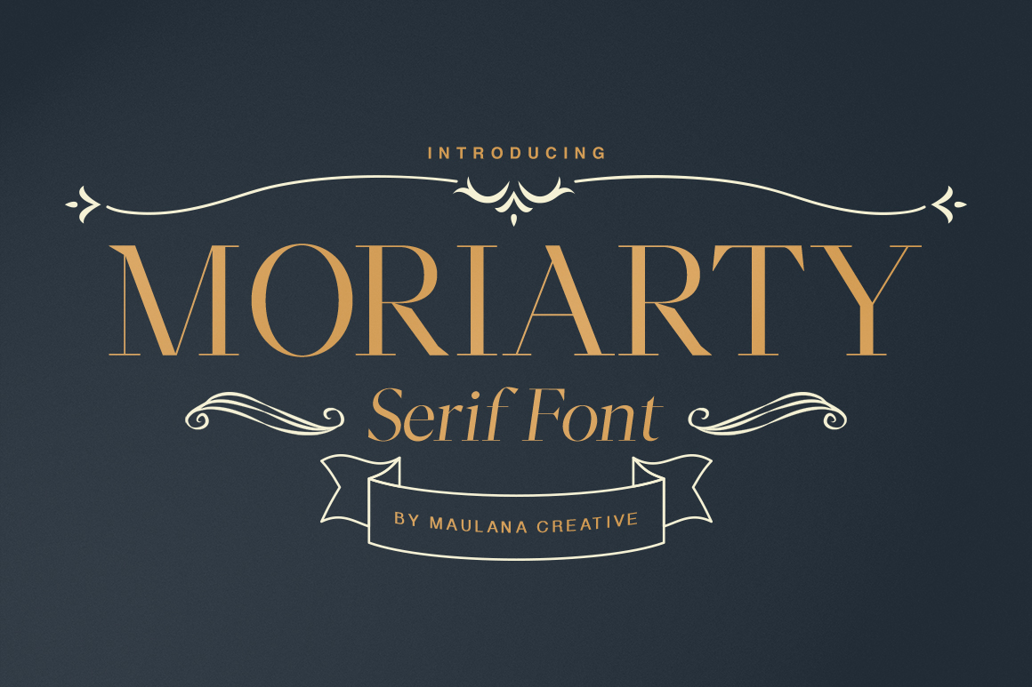 Moriarty Serif Font example image 1