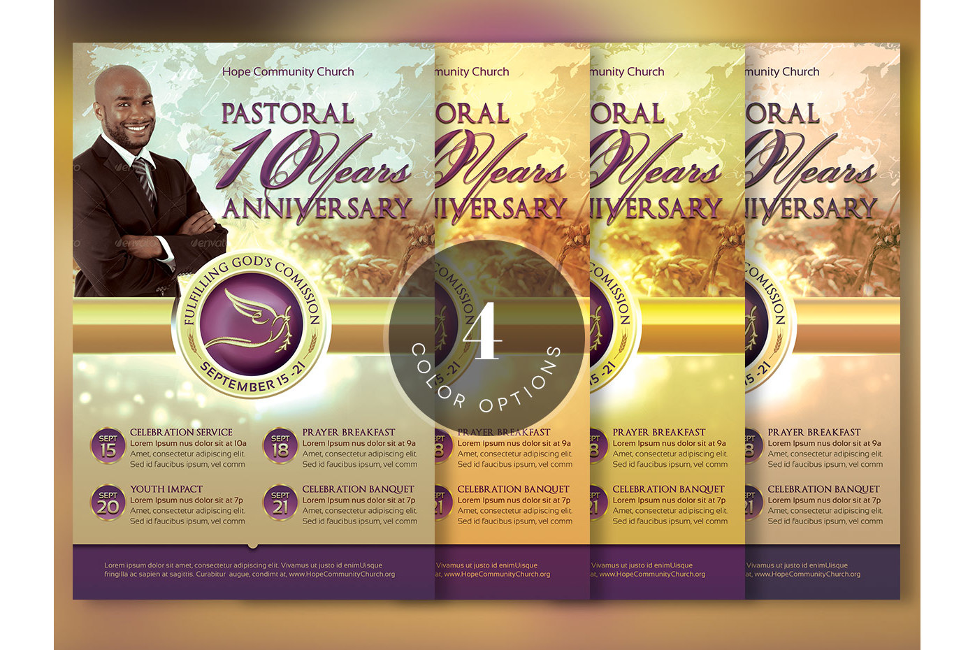 Clergy Anniversary Flyer Template example image 4