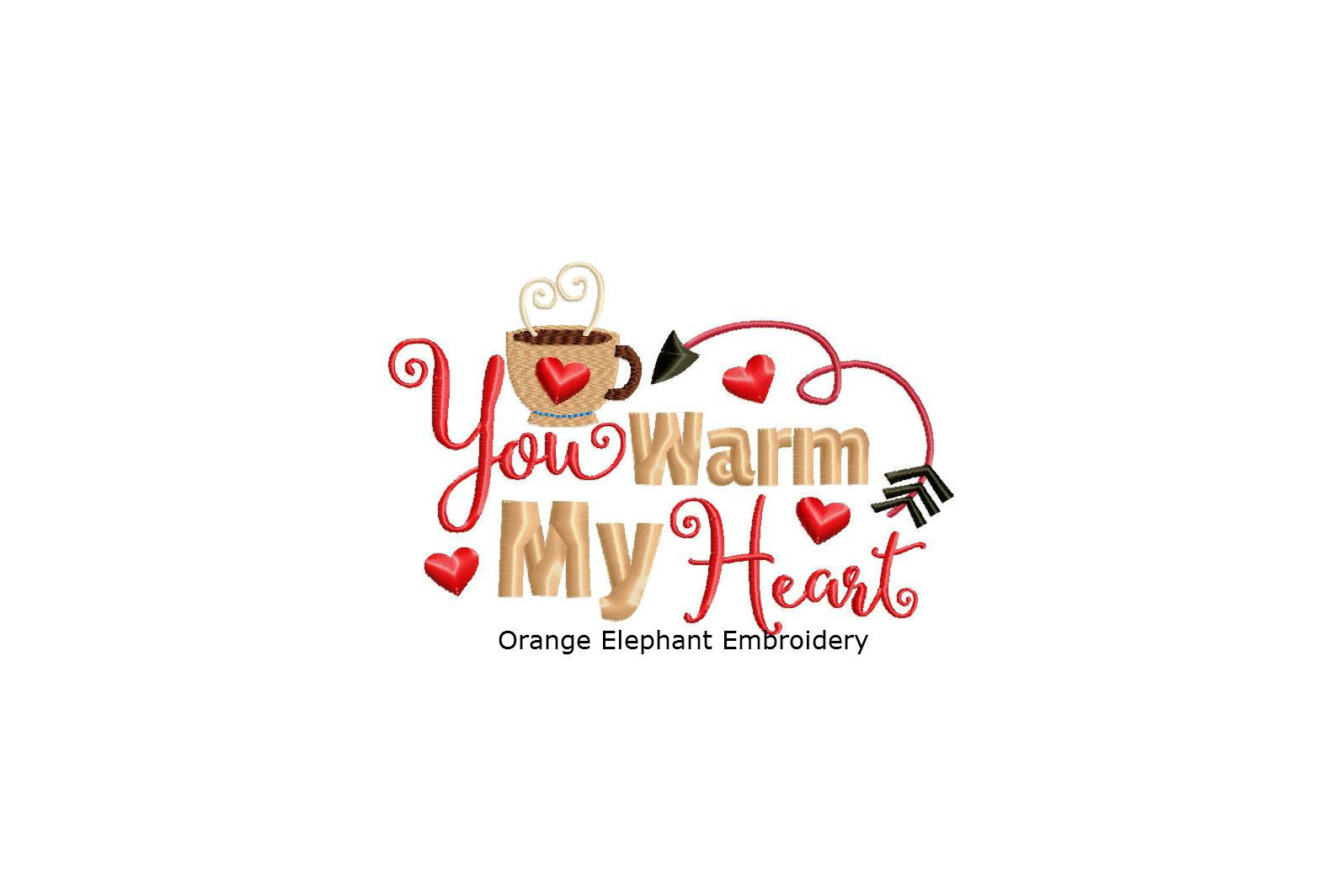You Warm My Heart Unique Urban Machine Embroidery Design digital File  example image 1