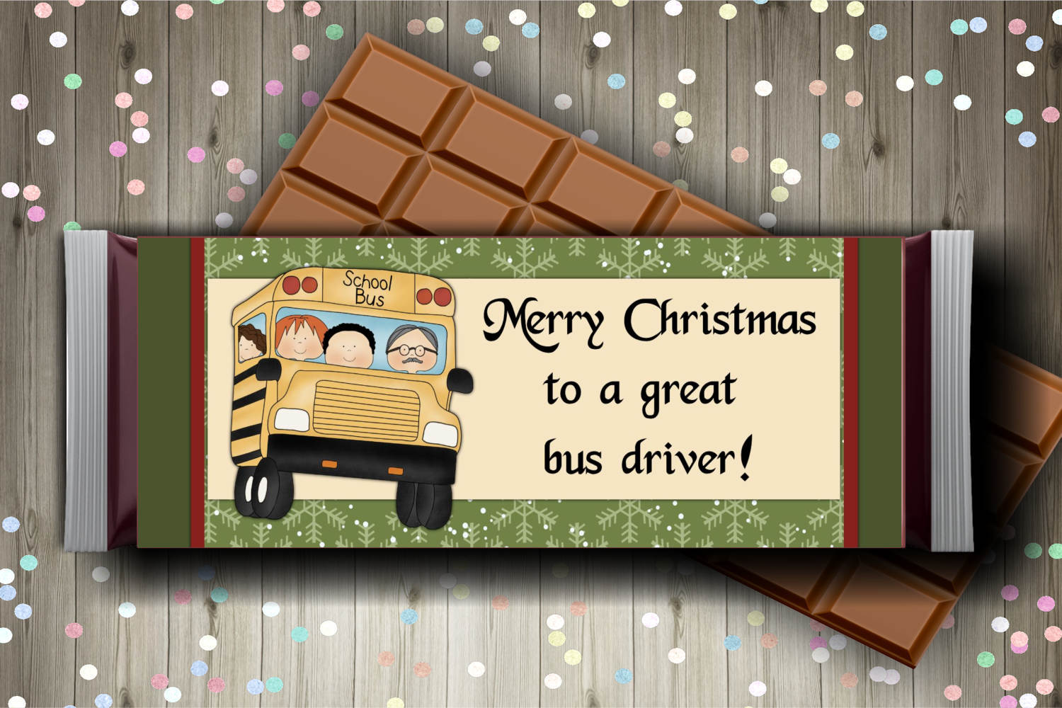 School Bus Driver Candy Bar Wrapper example image 2