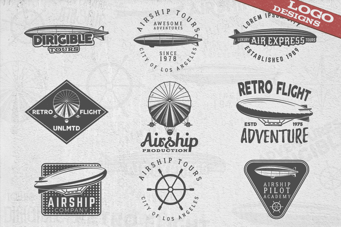 Airship Badges & Design Elements example image 2