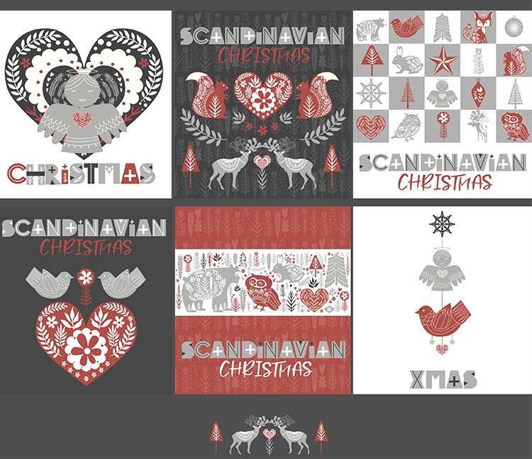 Scandinavian Christmas set example image 4