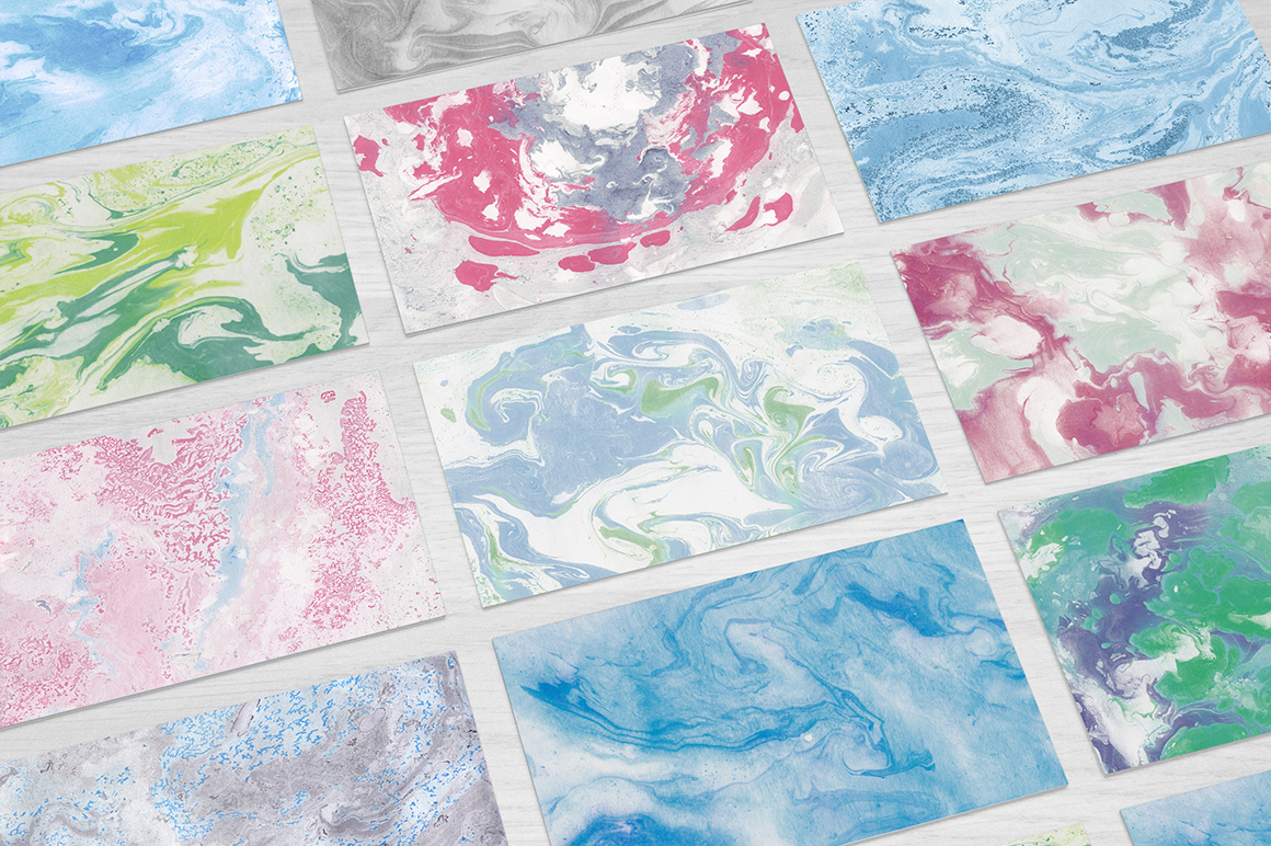 110 Marble Ink Paper Textures example image 6